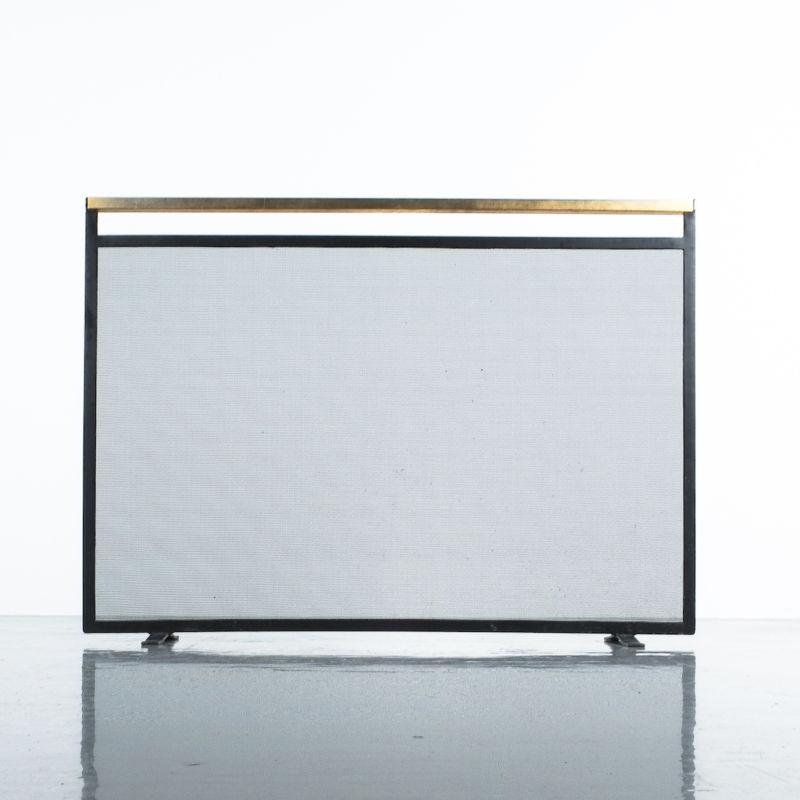 Fire Screen Brass Iron 03