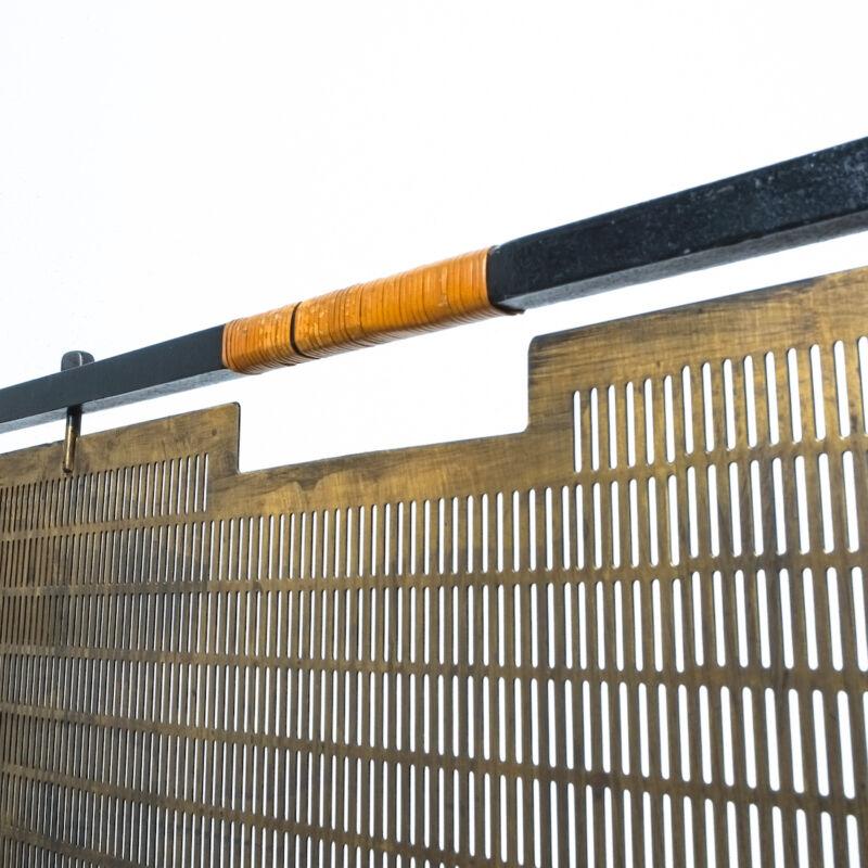 Firescreen Brass Forged Iron 1950 03