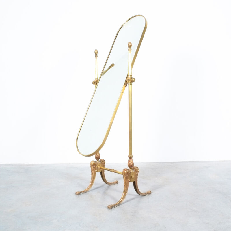 Floor Mirror Neoclassical Brass 07