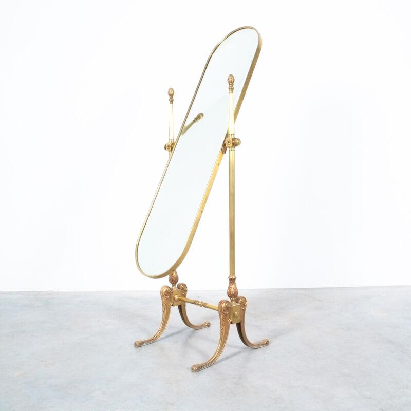 Floor Mirror Neoclassical Brass 07