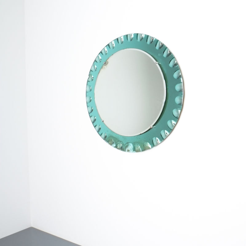 fontana arte green glass mirror bevelled_01