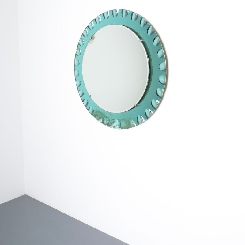 fontana arte green glass mirror bevelled_04