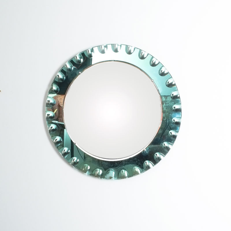 fontana arte green glass mirror bevelled_07