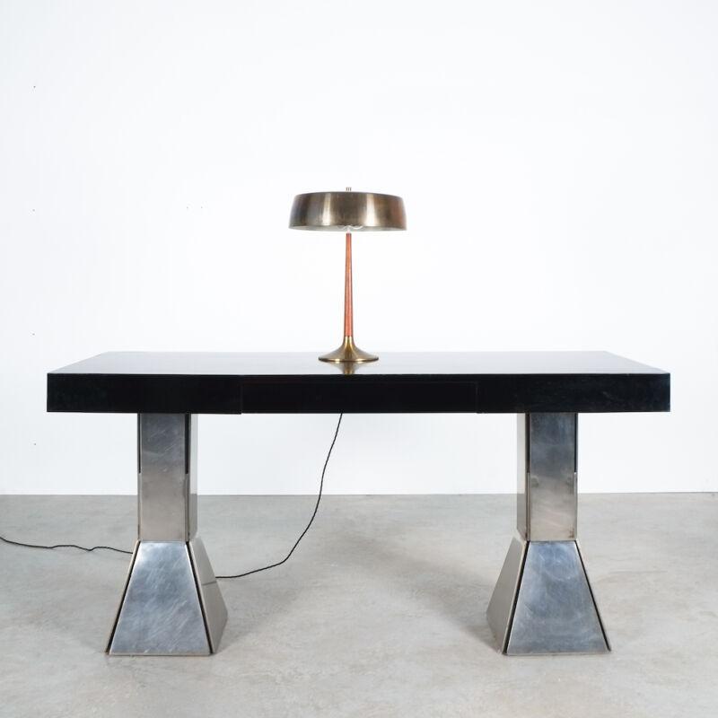 Formica Steel Black Console Desk Table 02