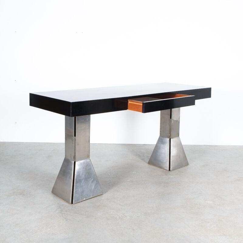 Formica Steel Black Console Desk Table 05