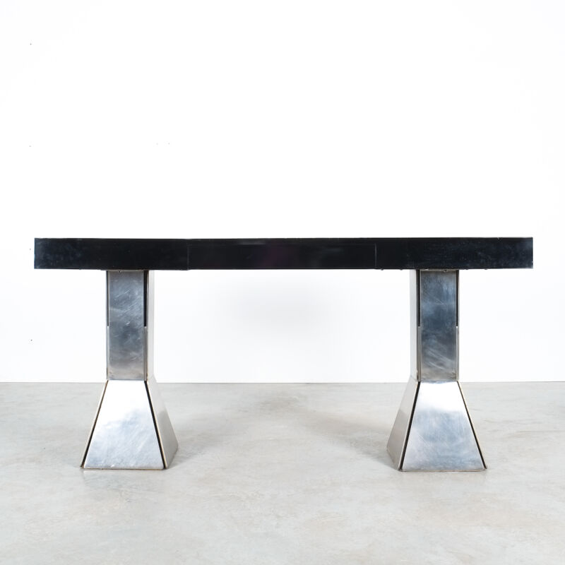 Formica Steel Black Console Desk Table 09