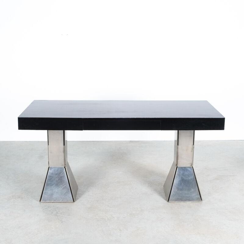 Formica Steel Black Console Desk Table 10
