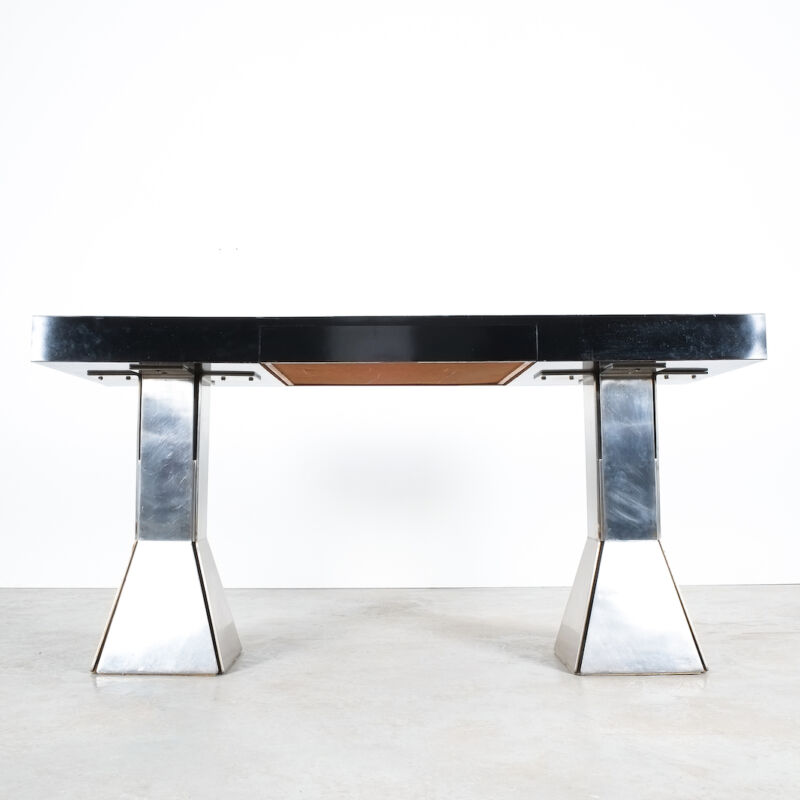 Formica Steel Black Console Desk Table 12