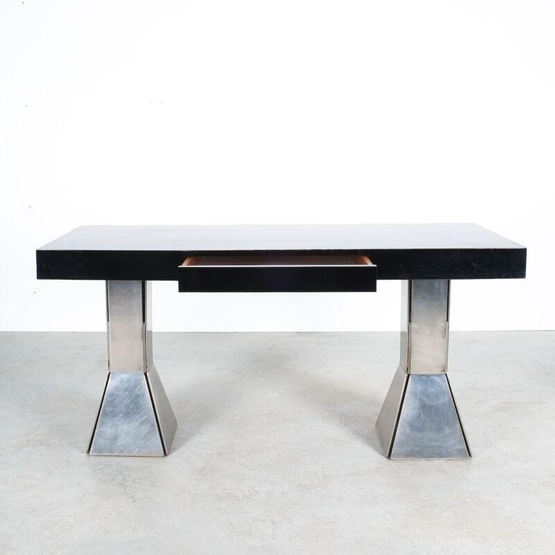Formica Steel Black Console Desk Table 13