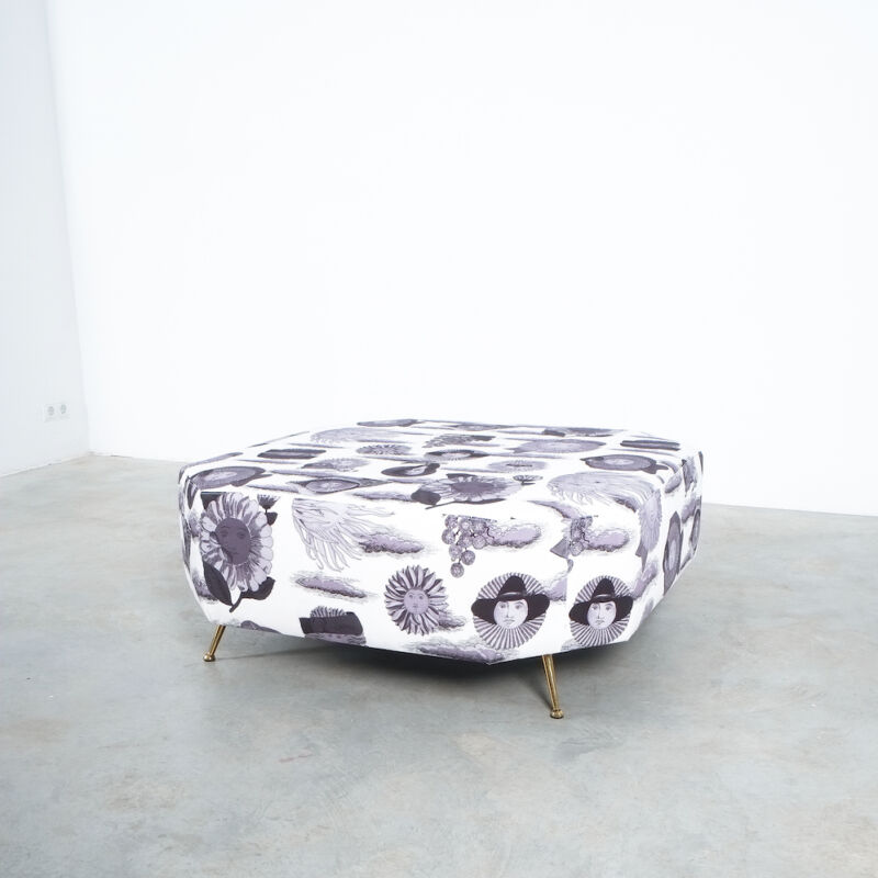 Fornasetti Fabric Pouf 1950 06