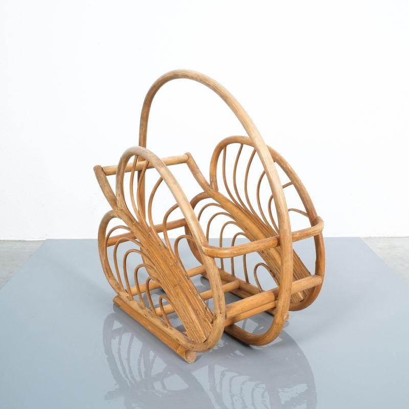 French Rattan Art Nouveau Holder 02