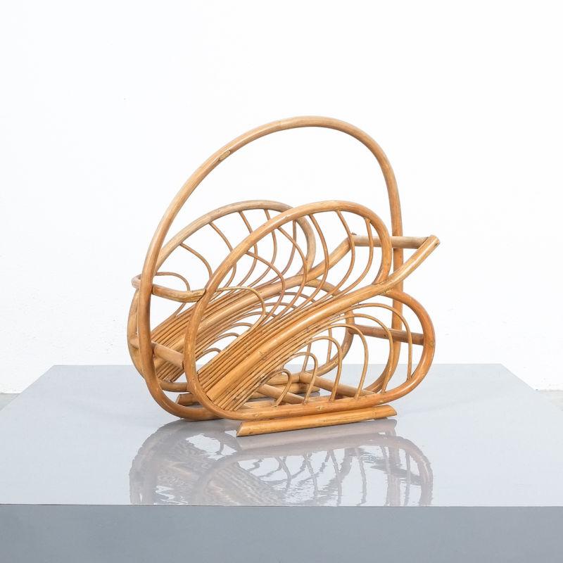 French Rattan Art Nouveau Holder 04