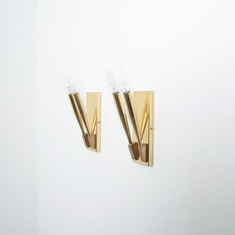 Gio Ponti Sconces Brass 07