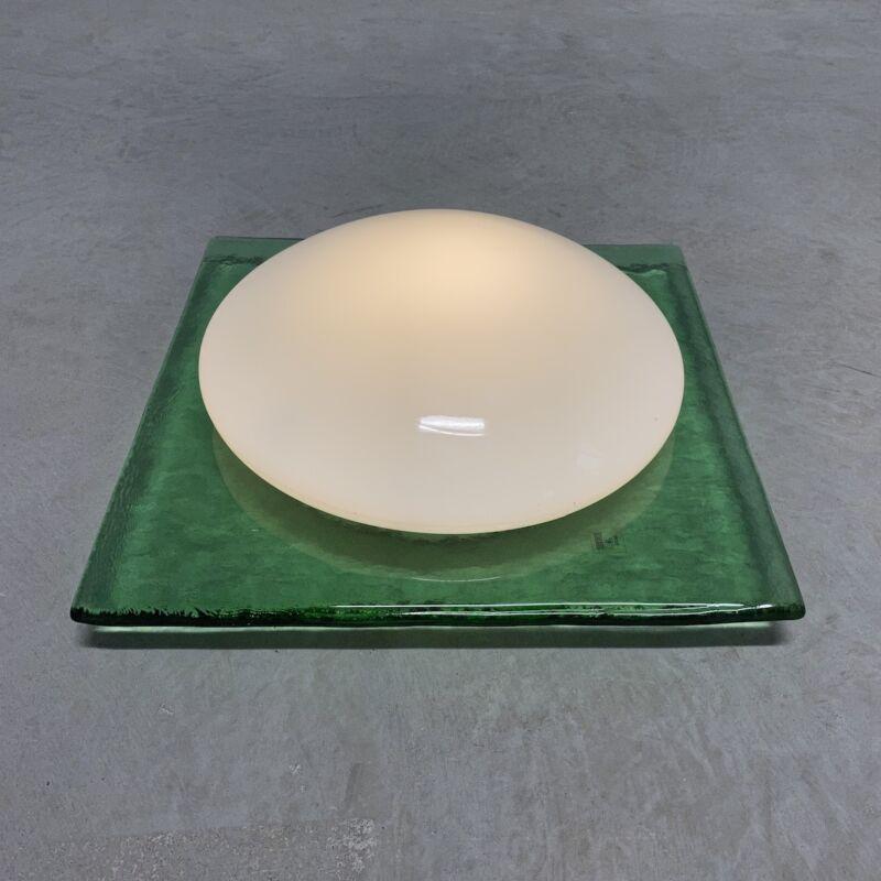 Green Murano Flush Mount Glass 02
