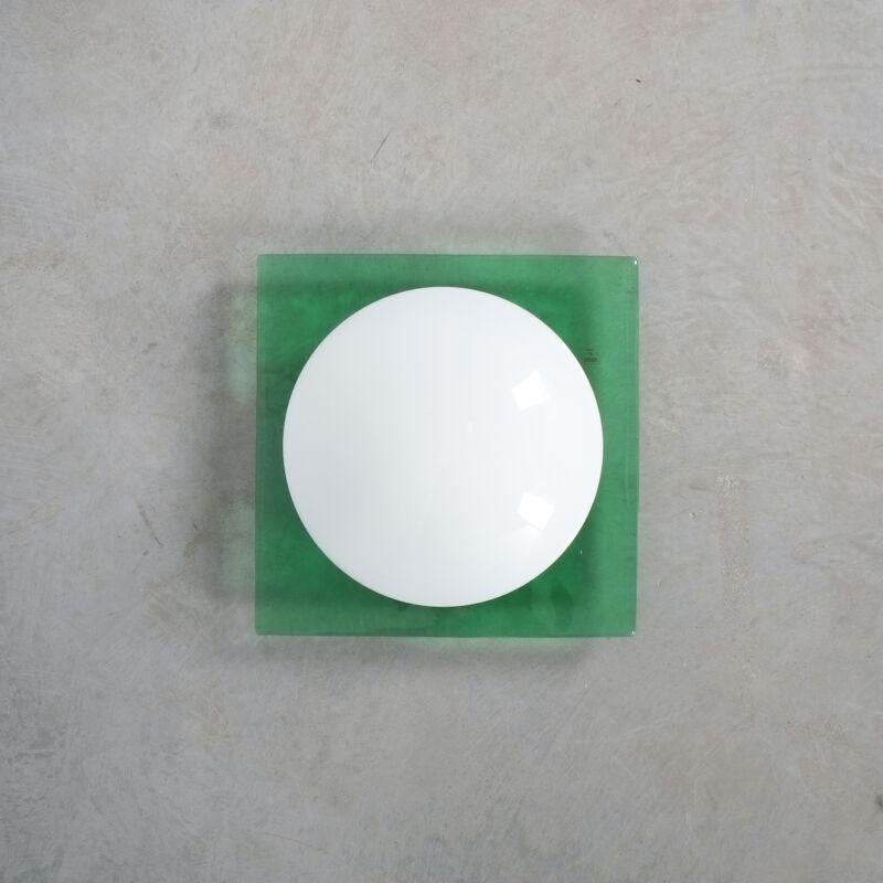 Green Murano Flush Mount Glass 03