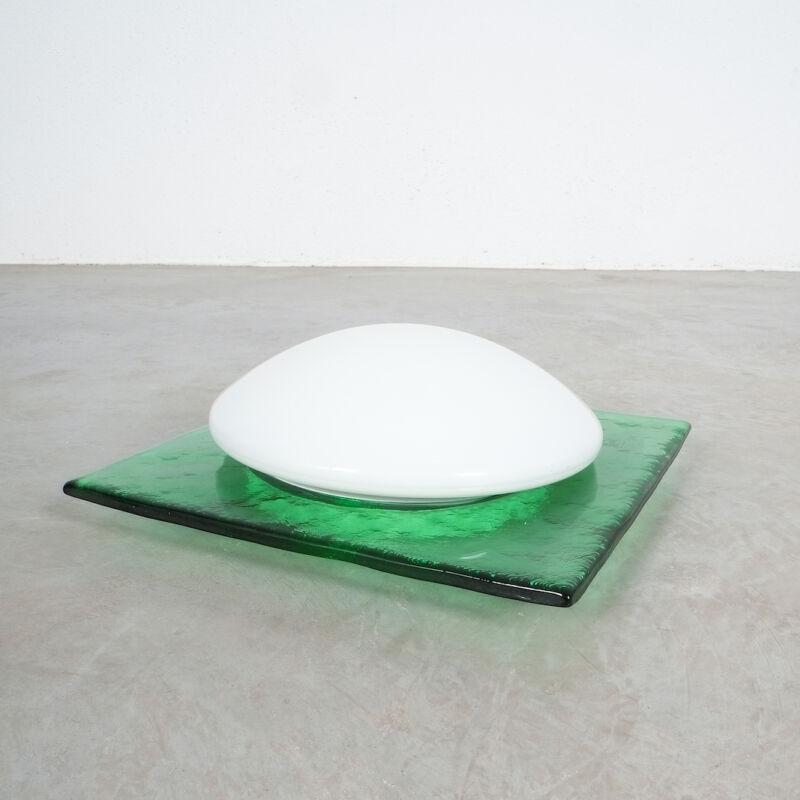 Green Murano Flush Mount Glass 05
