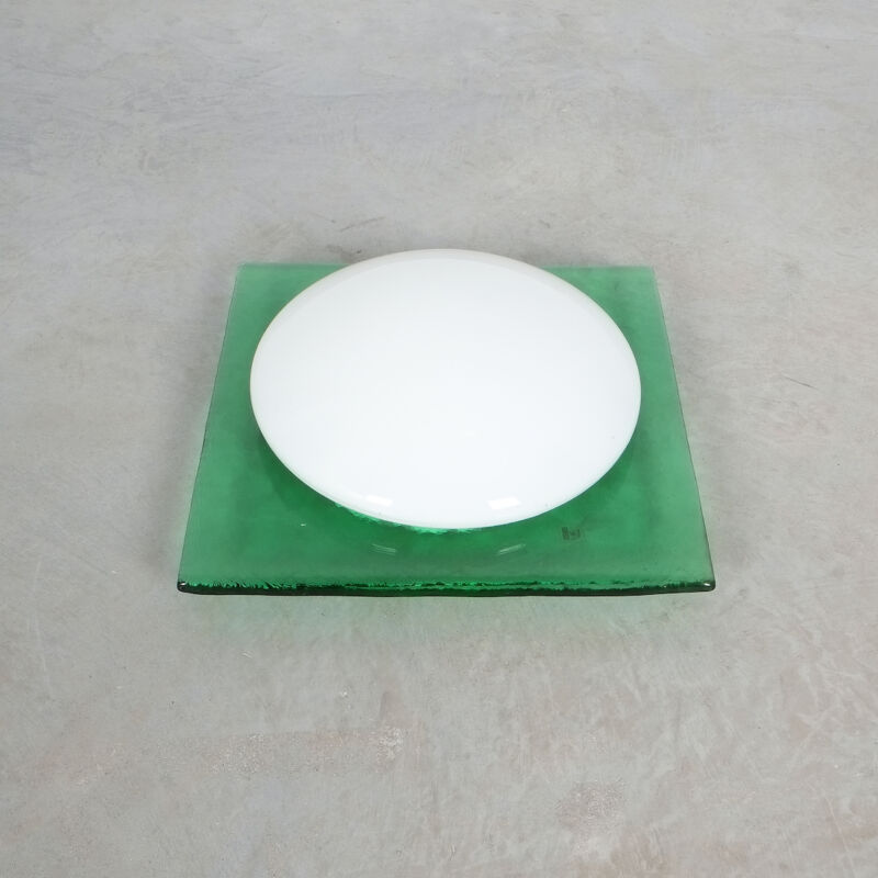 Green Murano Flush Mount Glass 06