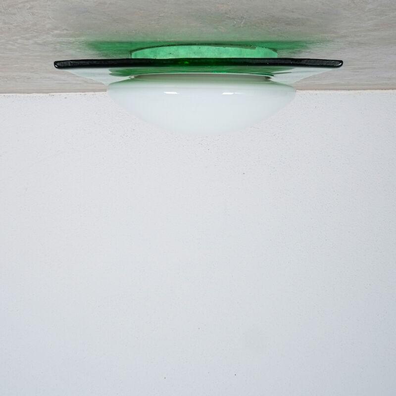 Green Murano Flush Mount Glass 07