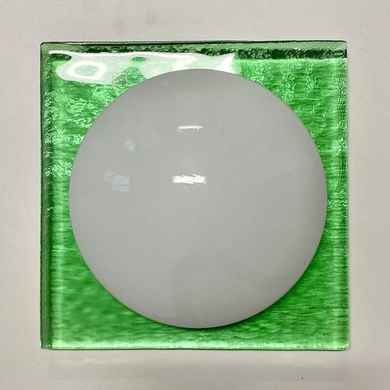 Green Murano Flush Mount Glass 09