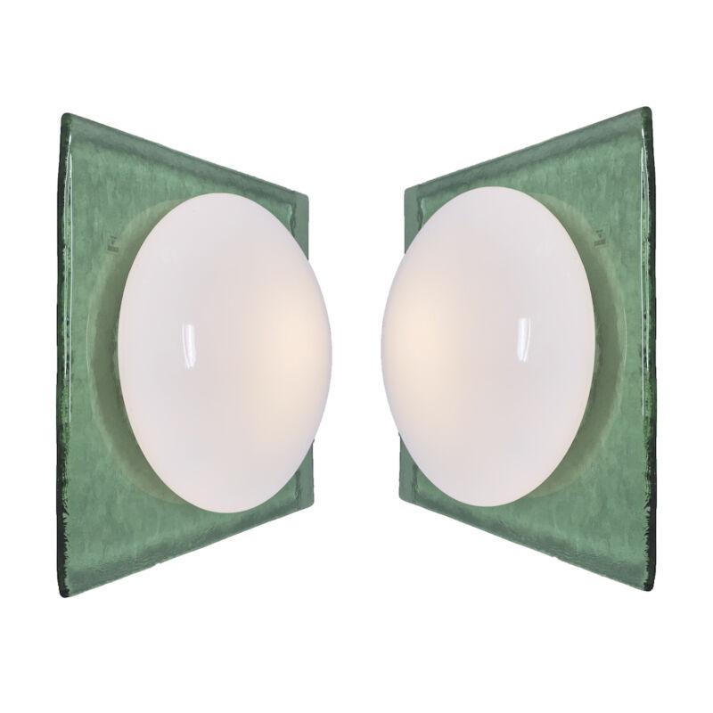 Green Murano Flush Mount Glass 11