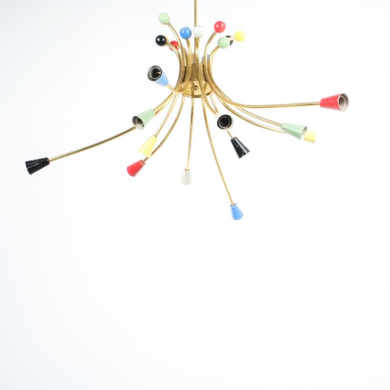 italian brass chandelier 1950_02 Kopie