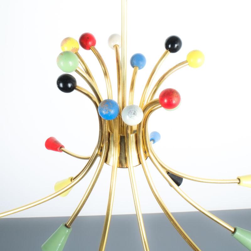 italian brass chandelier 1950_04 Kopie