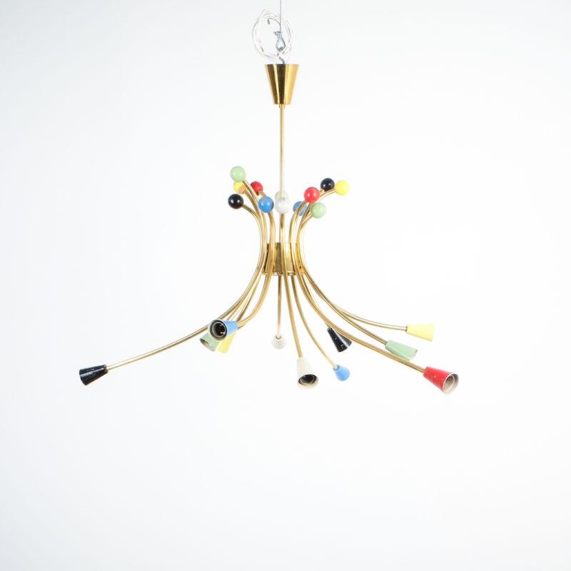 italian brass chandelier 1950_08 Kopie