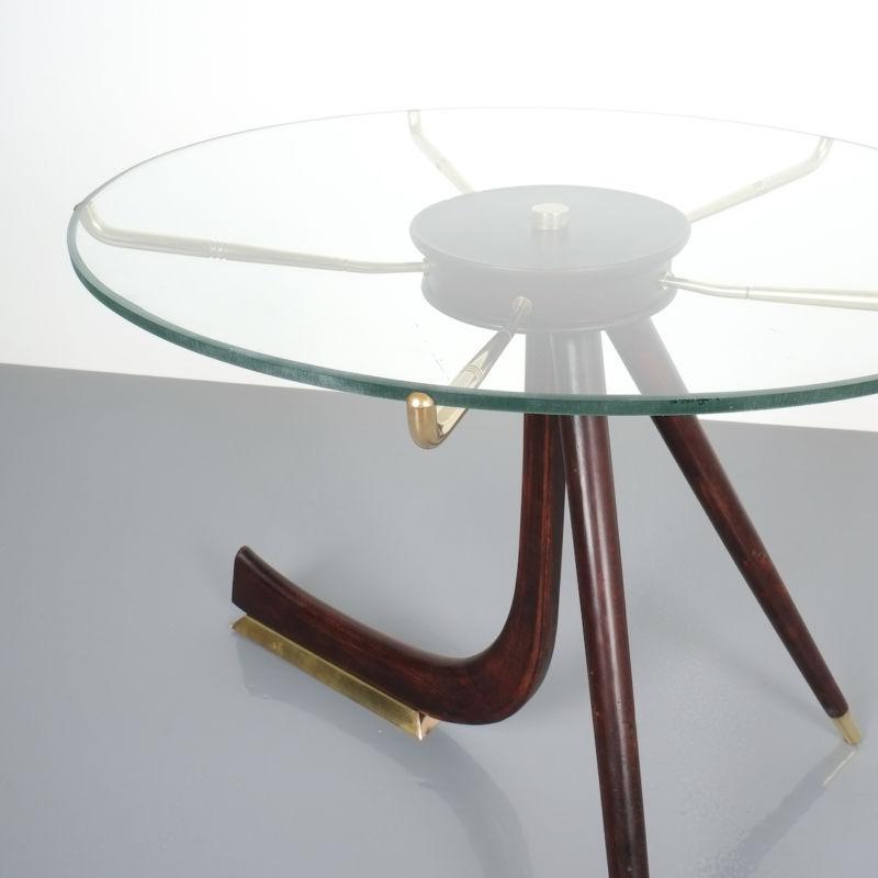 italian brass wood table brevetto_02 Kopie