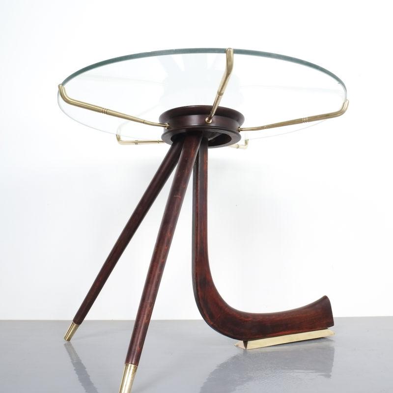 italian brass wood table brevetto_06 Kopie
