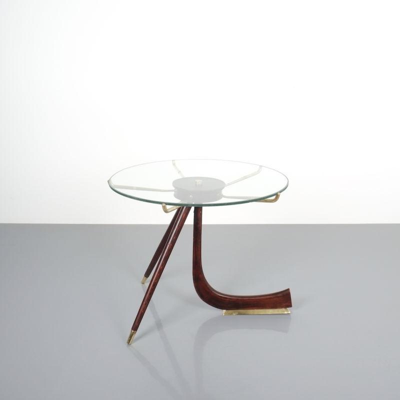 italian brass wood table brevetto_10 Kopie