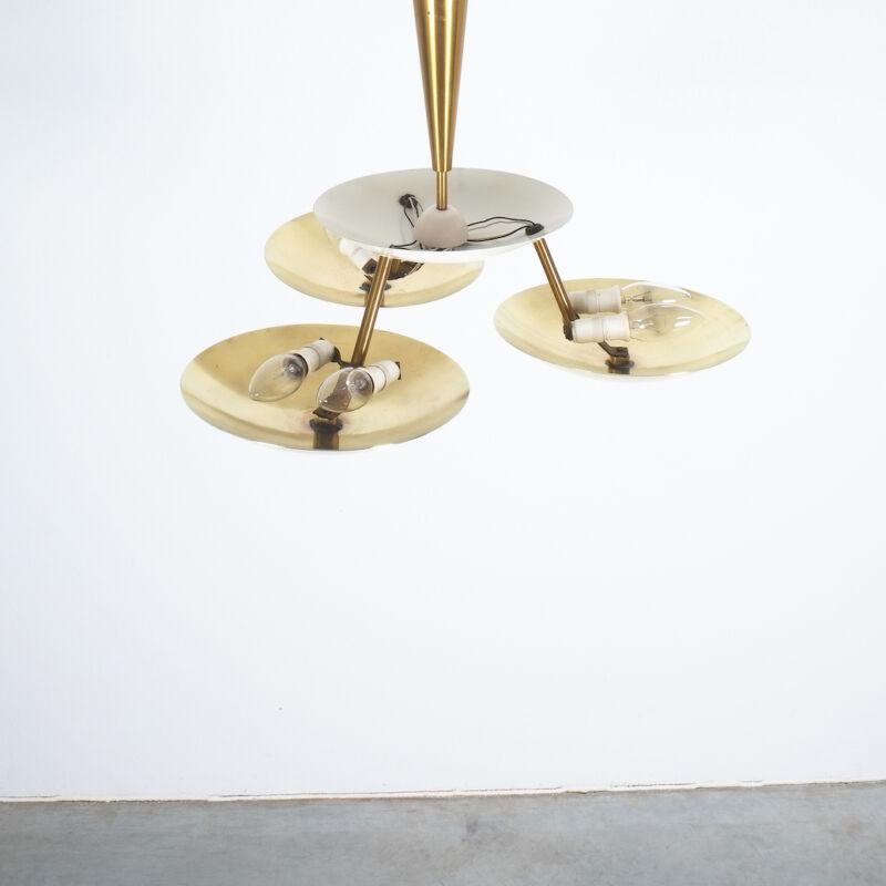 Italian Disc Chandelier Semi Flush Mount 03