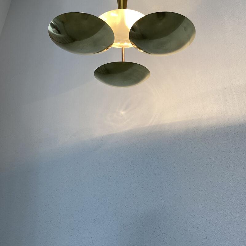 Italian Disc Chandelier Semi Flush Mount 12