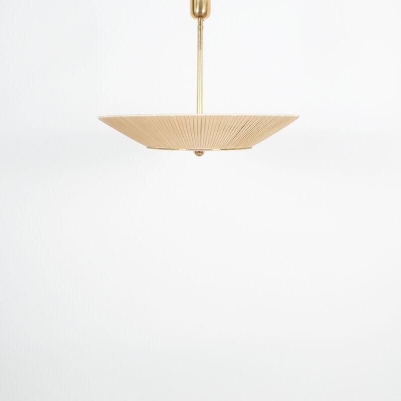 Kalmar Brass Fabric Semi Flush Lamp 04