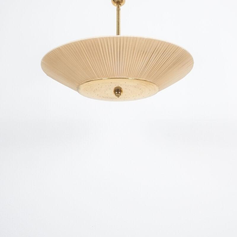 Kalmar Brass Fabric Semi Flush Lamp 05
