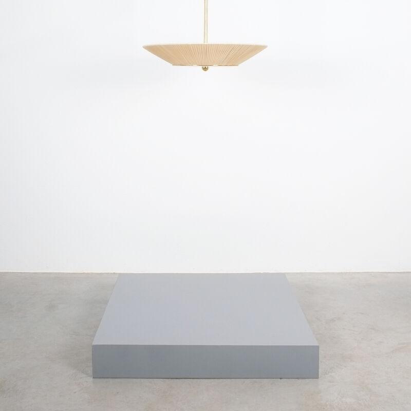 Kalmar Brass Fabric Semi Flush Lamp 07