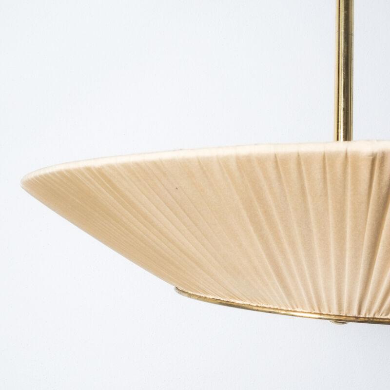 Kalmar Brass Fabric Semi Flush Lamp 08