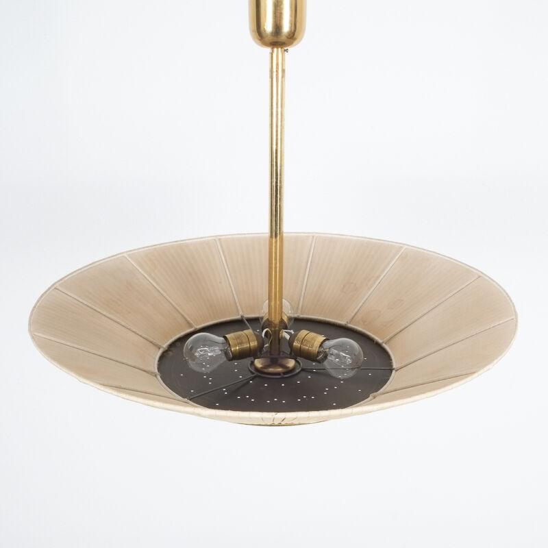 Kalmar Brass Fabric Semi Flush Lamp 10