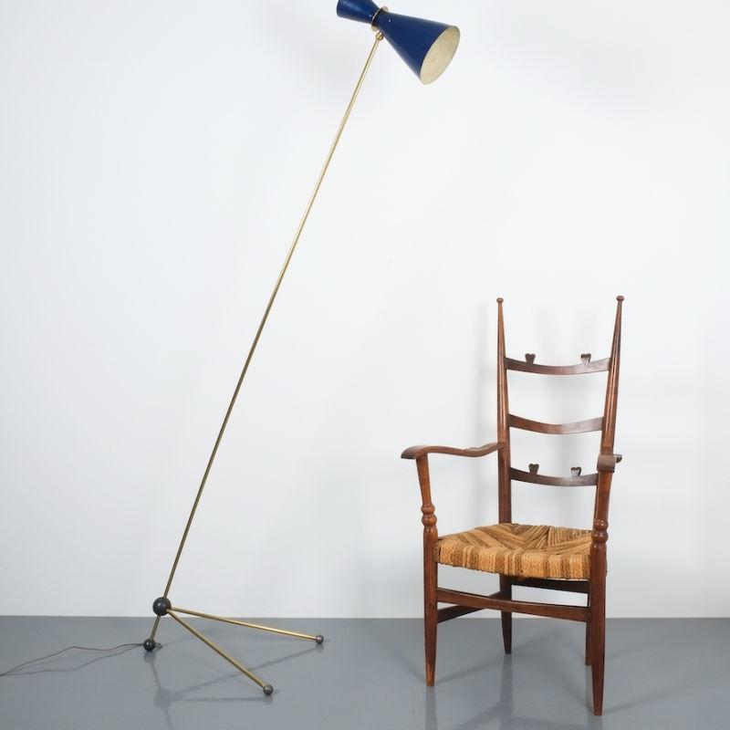 Ladderback Armchair Italy 1950 01