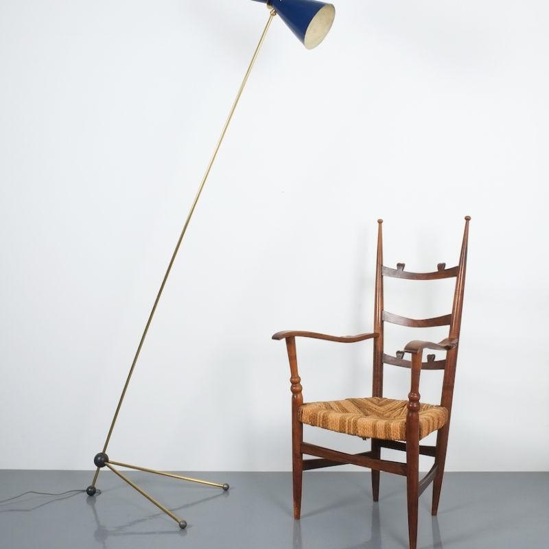 Ladderback Armchair Italy 1950 02