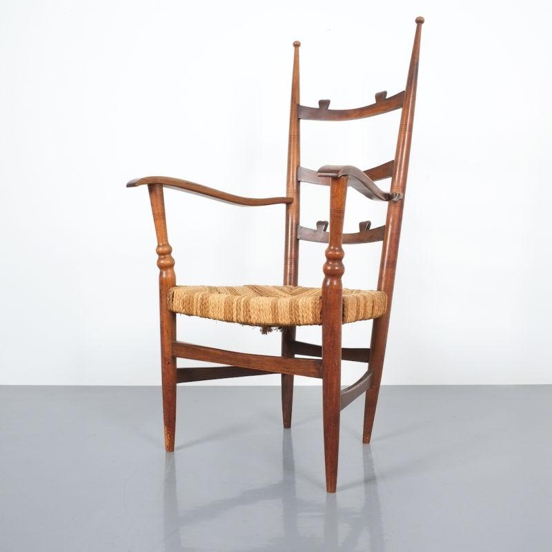 Ladderback Armchair Italy 1950 06