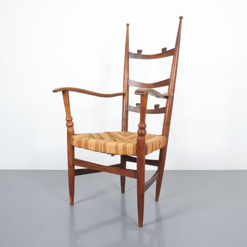 Ladderback Armchair Italy 1950 07