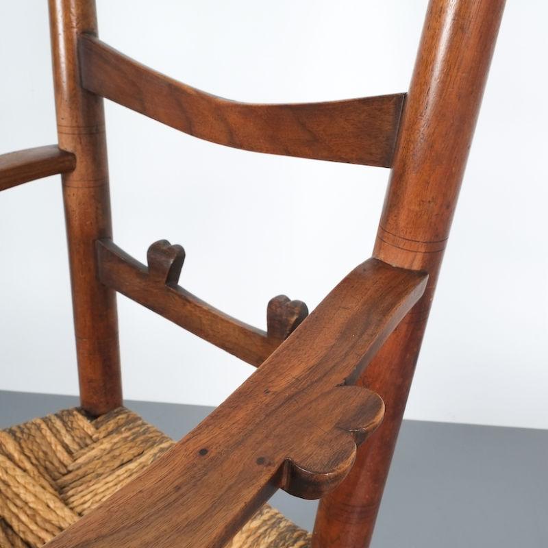 Ladderback Armchair Italy 1950 10