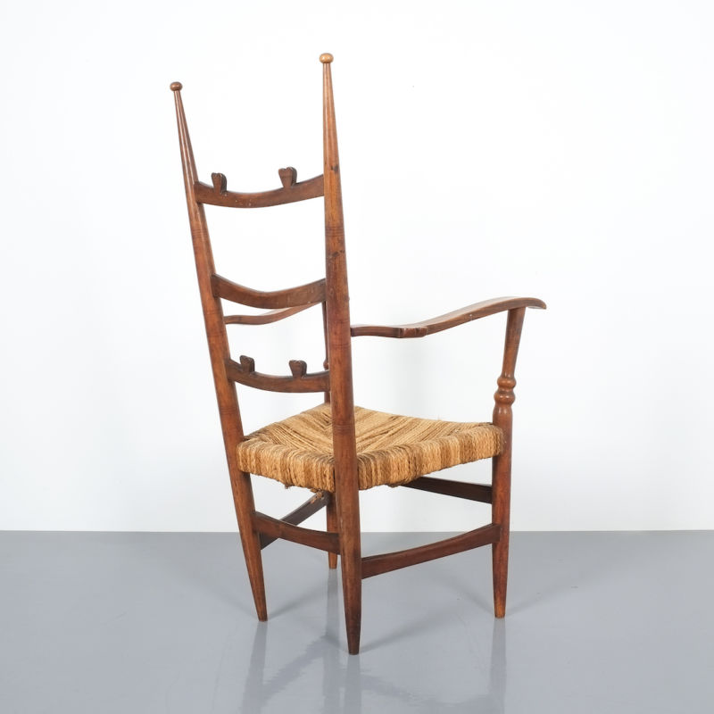 Ladderback Armchair Italy 1950 12