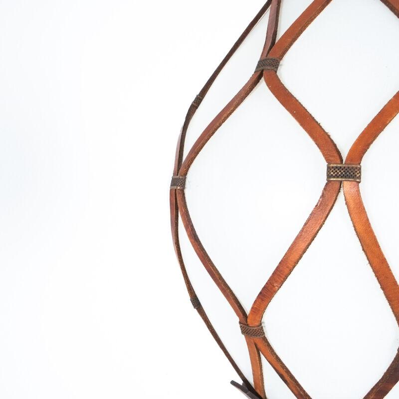 Leather Mesh Opal Glass Pendant 05