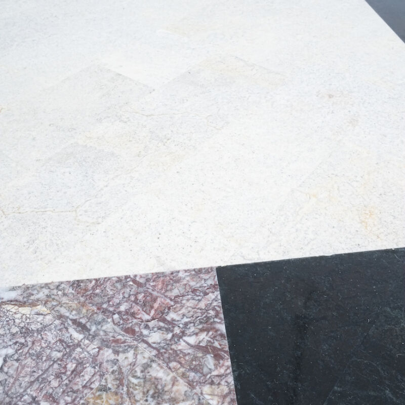 Marble Tile Tables Mosaic Pair 05