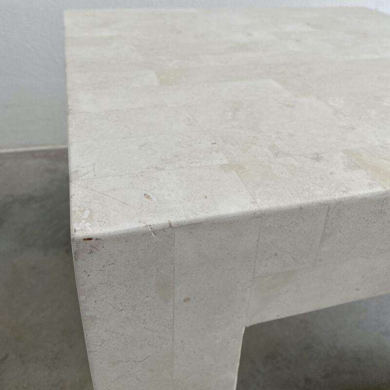Marble Tile Tables White Pair 13