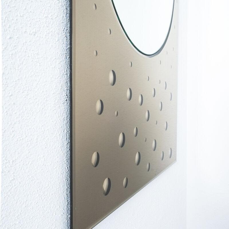 Mirror Bubble Dots Amber Bronze 04