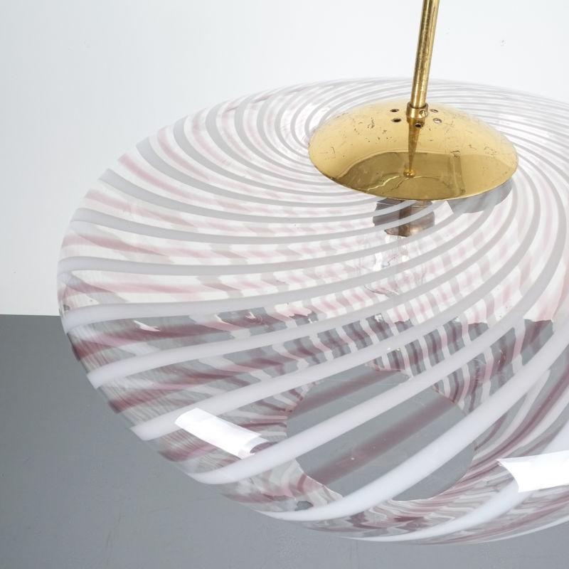 Murano Pendant Swirl Glass 05