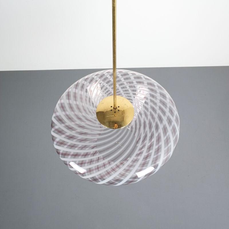 Murano Pendant Swirl Glass 06