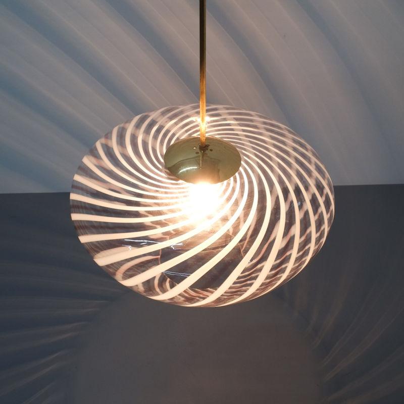 Murano Pendant Swirl Glass 10